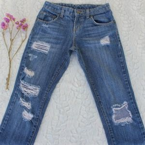 CARMAR DISTRESSED DENIM SKINNY JEANS LIGHT WASH 22